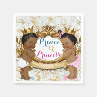 African Prince or Princess Gender Reveal Napkin Disposable Serviette