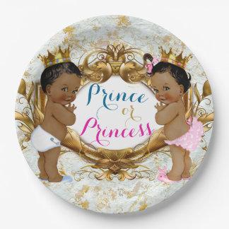 African Prince Or Princess Gender Reveal Plates
