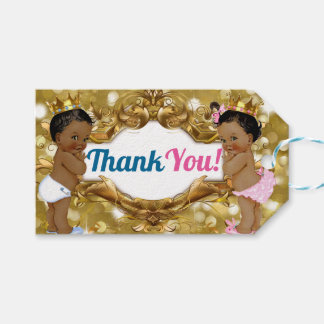 African Prince/Princess Glitter Thank You Tags