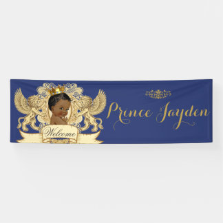 African Prince Royal Baby Shower Banner