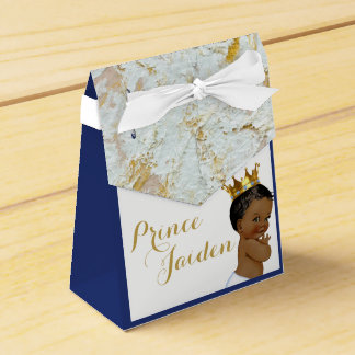 African Prince Royal Baby Shower FANCY Tent Favour Box