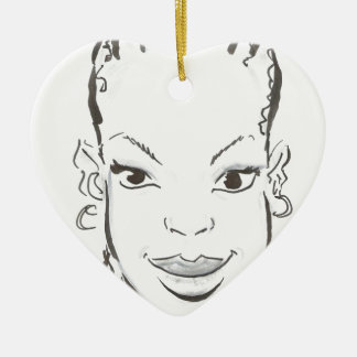 African princess. ceramic ornament