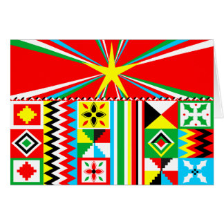 African Print Design Kente Cloth Tribal Pattern Card