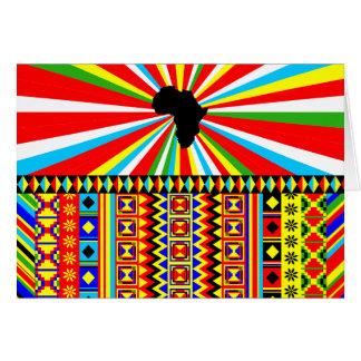 African Print Kente Cloth Tribal Pattern Ankara Card