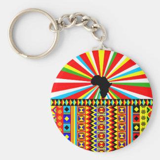 African Print Kente Cloth Tribal Pattern Ankara Key Ring