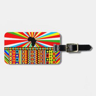 African Print Kente Cloth Tribal Pattern Ankara Luggage Tag