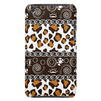 African print with cheetah skin pattern barely there iPod case