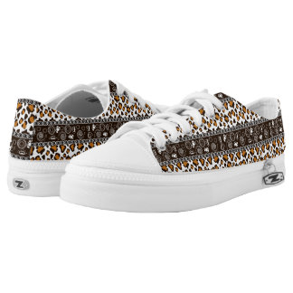 African print with cheetah skin pattern low tops