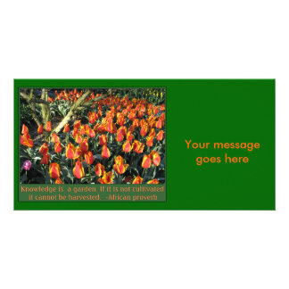 African Proverb Custom Photo Card