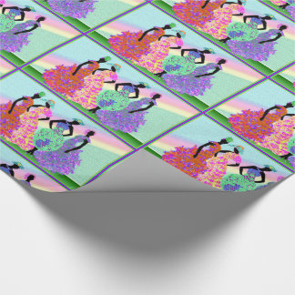 African Rainbow Parade Wrapping Paper
