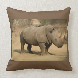 African Rhino Cushion