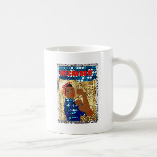 african rosie the riveter coffee mug