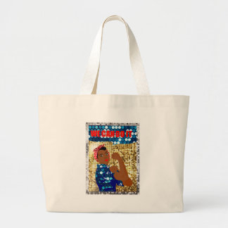 african rosie the riveter large tote bag