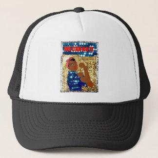 african rosie the riveter trucker hat