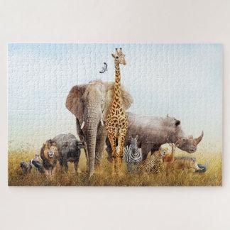 African Safari Animal Fantasy Land Jigsaw Puzzle