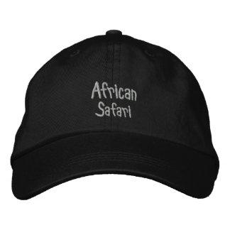 African Safari Black Baseball Cap