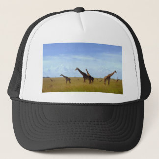 African Safari Giraffes Trucker Hat