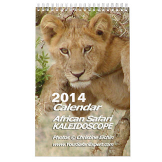 African Safari KALEIDOSCOPE Calendar 2013 1-Pg.