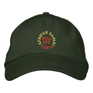AFRICAN SAFARI, KENYA EMBROIDERED HAT