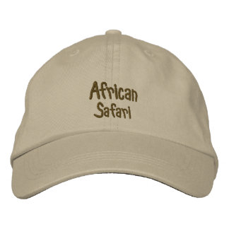 African Safari Khaki Embroidered Hat