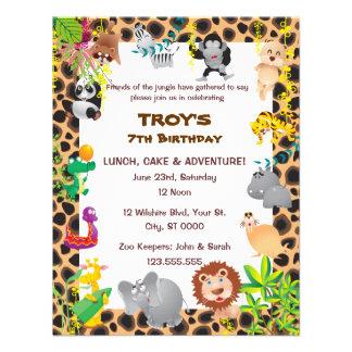 African Safari Kid's Birthday Party Invitation