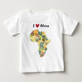 African Safari Map - I Heart Africa - Shirt