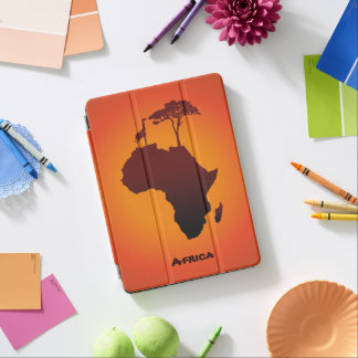 African Safari Map - iPad Cover