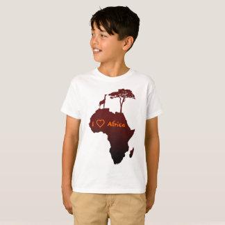 African Safari Map - Kid's Shirt