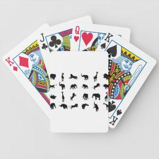 African Safari Silhouette Animal Bicycle Playing Cards