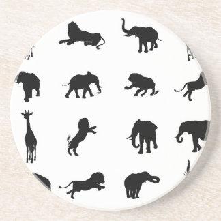 African Safari Silhouette Animal Coaster
