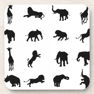 African Safari Silhouette Animal Coaster