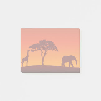 African Safari Silhouette - Post-it® Notes