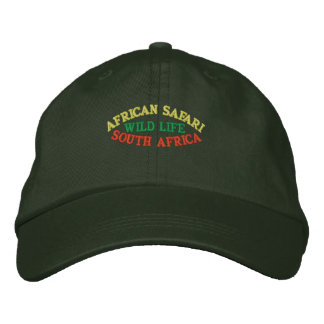 AFRICAN SAFARI, SOUTH AFRICA EMBROIDERED CAP
