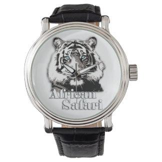 African safari wrist watch. wristwatch