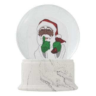 African Santa Snow Globe Custom Christmas Gifts