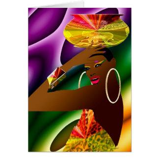 African Servant Card