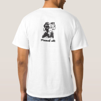 African Sketch Pissed Of Value T-Shirt, White T-Shirt