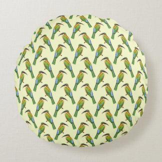 African Somali Bee-eater Vintage Bird Pattern Round Cushion