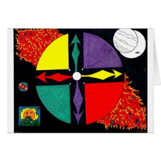 African Spirit Wheel Card