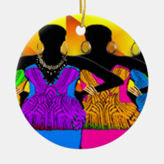 African Style Dream Girls Ceramic Ornament