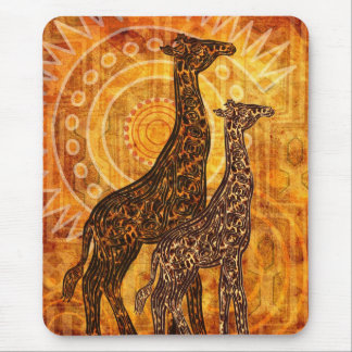 African Summer Giraffes + your ideas Mouse Pad
