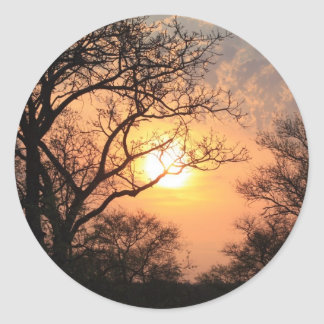 African Sunset - At the end of the day Round Sticker