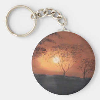 African sunset key ring