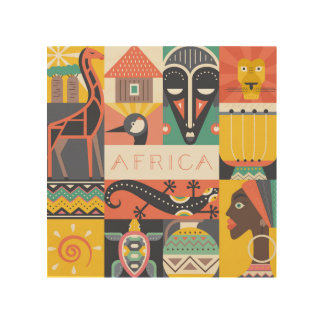 African Symbolic Art Collage