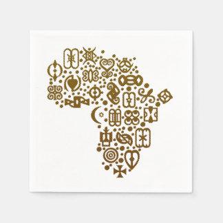 African Symbols BHM Party Paper Napkins