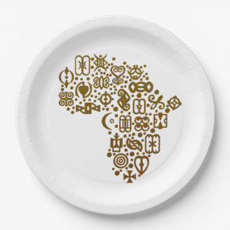 African Symbols BHM Party Paper Plates