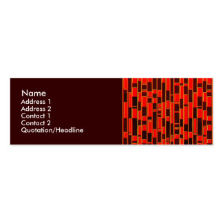 African Textile Inspired Abstract Business Card Template