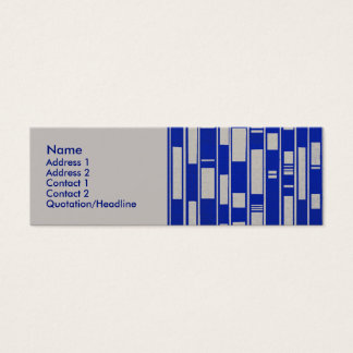 African Textile Inspired Abstract - V2 Mini Business Card