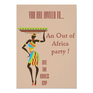 African themed Out of Africa party Card