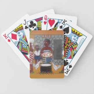 African traditional homestead cute nice lovely col bicycle playing cards